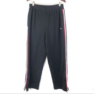 Nike Black Side Stripe Track Pants Zipper Ankle M